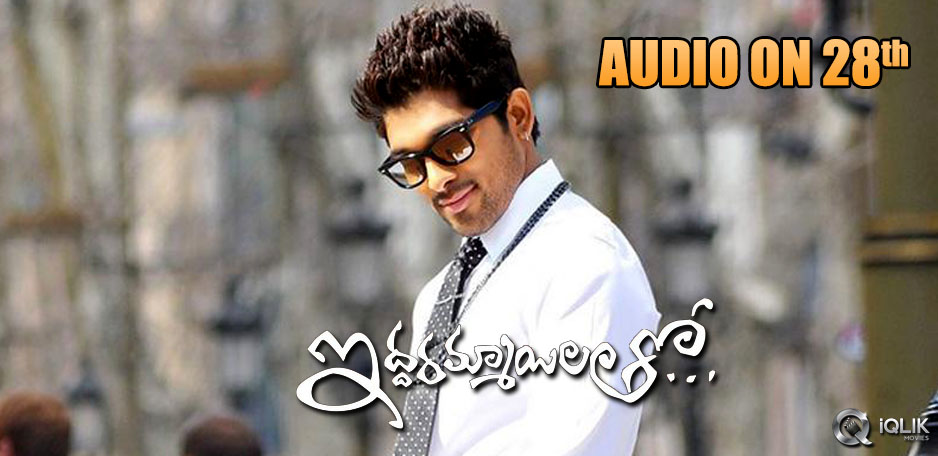 Iddarammayilatho-Audio-on-28th