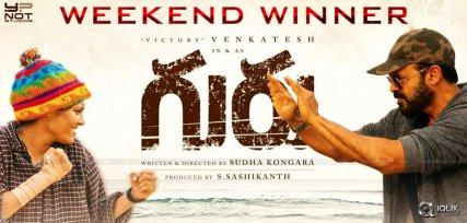guru-venkatesh-ritika-singh-weekend-collection