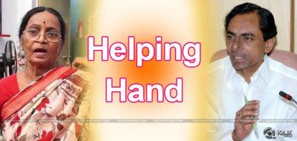 cm-kcr-gives-financial-aid-to-paavala-shyamala