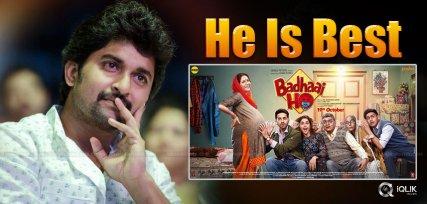 nani-may-act-in-badhai-ho-telugu-remake