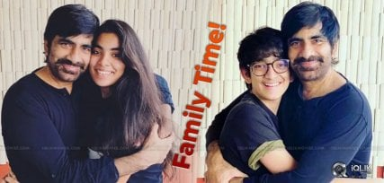 family-time-ravi-teja-with-son-daughter