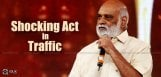 kraghavendrarao-struck-in-hyderabadtraffic-jam