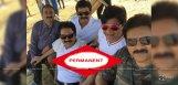 actor-narra-srinu-with-pawan-kalyan-at-shooting