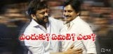 chiranjeevi-pawan-met-on-katamarayudu-sets