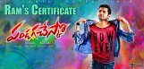 ram-about-pandaga-chesko-movie-censor-report