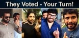 chiranjeevi-jr-ntr-nagarjuna-voted-in-elections