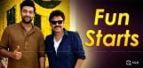 venkatesh-varun-tej-fun-frustration-shoot