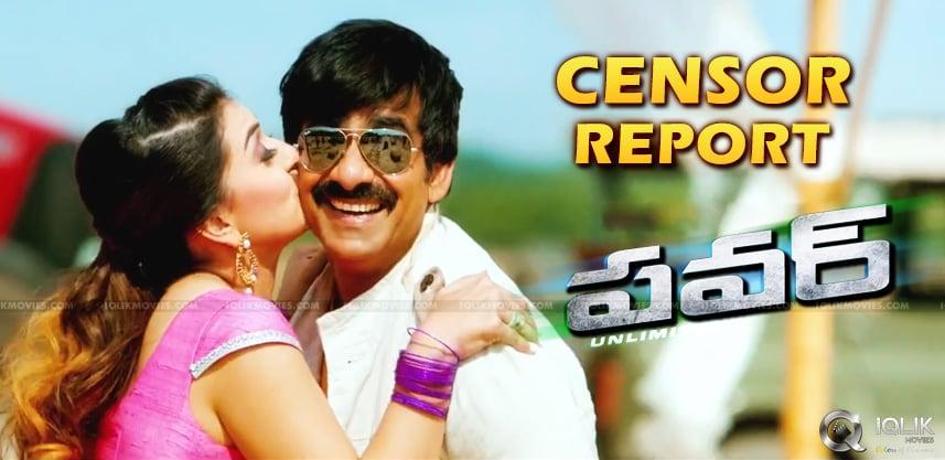 raviteja-movie-power-censor-report