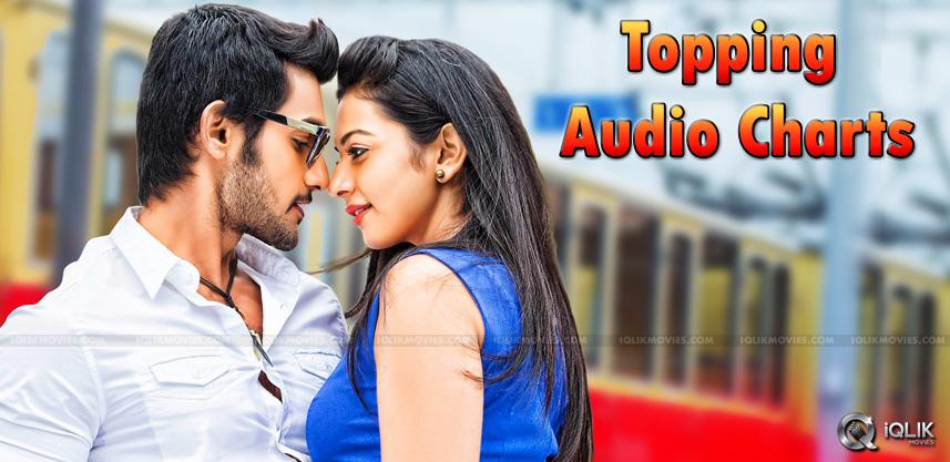 aadi-rakul-preet-rough-song-topping-audio-charts