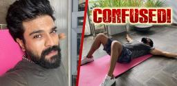Ram Charan Struggles To Workout!