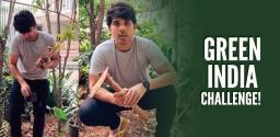 Allu Sirish Accepts Green India Challenge, Plants Saplings