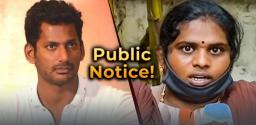 Vishal Issues A Public Notice With Regards To Accountant Ramya