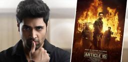 Adivi Sesh In Article 15 Remake?