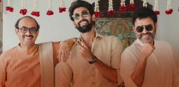 Rana Poses With Daggubati Brothers