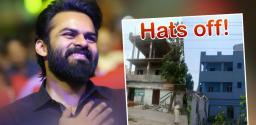 Sai Dharam Tej Rennovates Old Age Home In Vijayawada