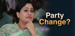Vijayashanthi: Jump from BJP To Congress?