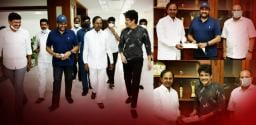 nagarjuna-and-chiranjeevi-meeting-with-telangana-cm