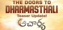 Official: Acharya's teaser on 29th Jan