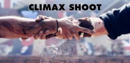 Team RRR shooting the climax