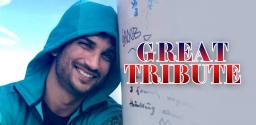 Grand tribute paid to Sushant Singh Rajput