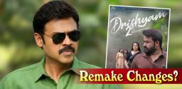 'Venkatesh mark' changes for Drishyam 2 remake