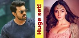 Huge set being erected for Alia Bhatt and Ram Charan