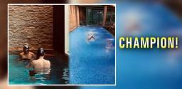 Mahesh Babu's son Gautam is top swimmer in Telangana