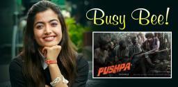 Rashmika dedicates July for Pushpa