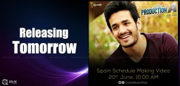 akhil-debut-movie-making-video-details