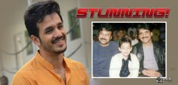 Akhil Speechless To Chiranjeevi Words