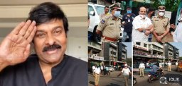 Mega Star Chiranjeevi Lauds Police Force!