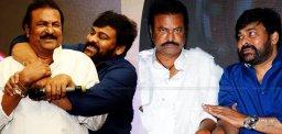 Chiranjeevi Punching Tweet To Mohanbabu: No Hug Please!