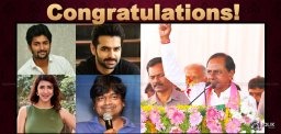 Film Personalities Line Up To Congratulate KCR & TRS!