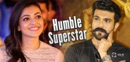 Kajal Says, Charan Is Most Humble Super Star!