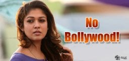 Nayan Says Big 'No' For B'Town!