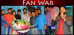 fan-war-at-niharika-oka-manasu-audio-launch