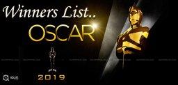list-of-oscar-awards-winners-2019