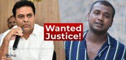 Rahul-Sipligunj-demands-justice-from-KTR