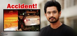 Raj Tarun Escapes A Major Road Mishap!