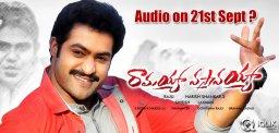 Ramayya-Vastavayya-audio-on-21st-September-