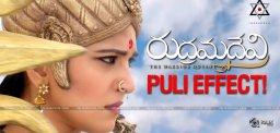 puli-movie-effect-on-rudramadevi-hindi-release