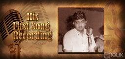 S.P.Balasubrahmanyam First Song Recording Saga.