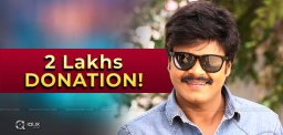 Comedian Sapthagiri Donates 2 Lakhs