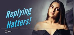 Sonakshi's Befitting Reply To hatters!