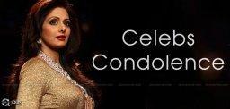 Celebs Condolence to Sridevi