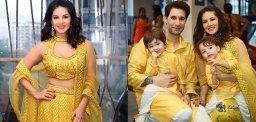 sunny-leone-gold-family-diwali-celebrations