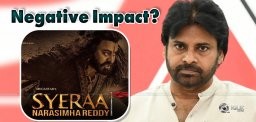 Jana Sena 'Negative' Effect On Sye Raa?