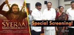 Special Screening Of Sye Raa For Vice President Venkaiah Naidu