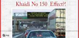 Chiru-khaidino150-Causing-Traffic-Jam-In-usa
