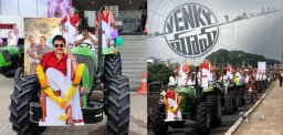 Tractors Rally For Venky Mama